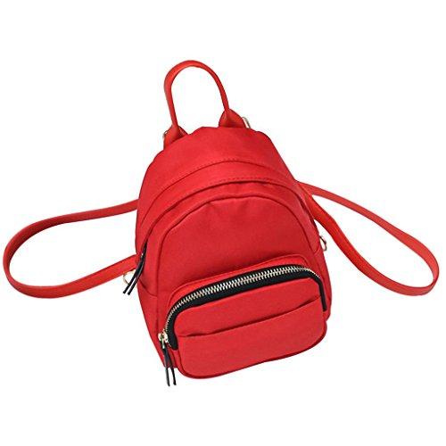 Kleine einfache koreanischen Art-Mädchen-Rucksack-Minimultifunktions-Dame-Schulter-Beutel-Frauen Leichte Nylon-Rucksack Arichtop (Mini-kabel Pullover)