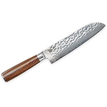 Santoku Messer von GENTLEMAN´S TOOLS - 17 cm (7 inch) - Äußerst scharf -67 Lagen echter Damast-Stahl - Hochqualitatives Kochmesser mit modernem Design - Ausbalancierter Griff aus Pakkawood-Holz - Perfekt für anspruchsvolle Hobby- & Profiköche