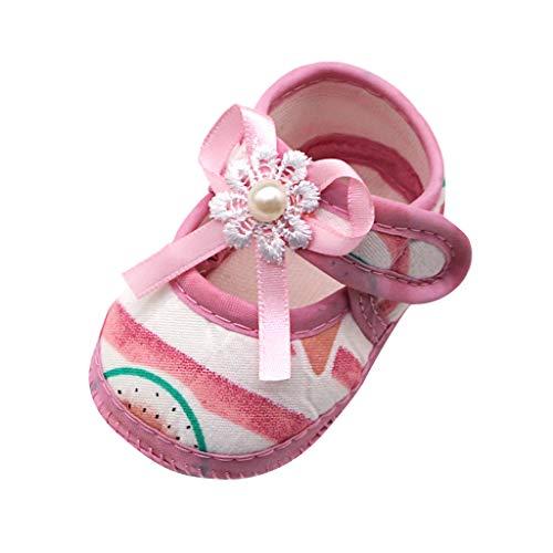 WEXCV Baby Mädchen Sommer Bow Wassermelone Drucken Kinderschuhe Sandalen Freizeitschuhe Mode Elegant Süß Weich Flache Lauflernschuhe für 0-20 Monate -