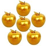 Lorigun 6 Stück Golden Apples Golden Fruit Crafts Home Decoration Weihnachtsdekor