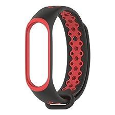 FOANA - Braccialetto Sportivo di Ricambio Resistente in Poliuretano termoplastico, per 3 Persone Red