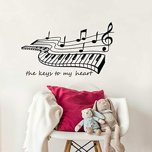 ljmljm Notes de Musique en Vinyle sculpté Stickers muraux décoratifs amovibles34x59cm