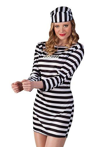 Boland 83819 - Erwachsenenkostüm Gefangene chick, (Kostüm Zubehör Gefängnis)