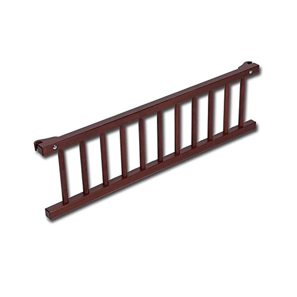 babybay 160203 Colonial Varnished Guardrail for Maxi/Box Spring, One Size, Multi-Colour babybay Made of solid wood Comes with the locking clip Fit for maxi and box spring co-sleeper cot 1