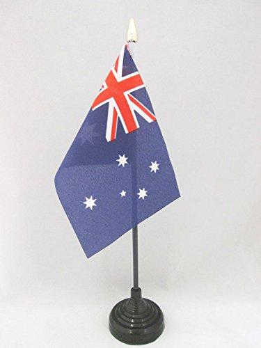 AZ FLAG TISCHFLAGGE AUSTRALIEN 15x10cm goldene splitze - AUSTRALISCHE TISCHFAHNE 10 x 15 cm - flaggen