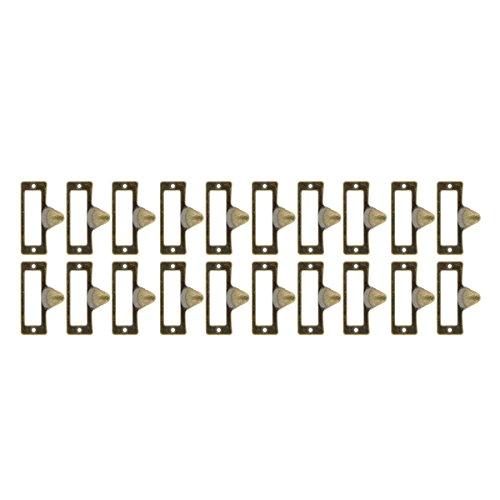 Saim Eisen Label Rahmen Karte Cup Pull Griff Schublade Box Case Schrank Carpenter Reparatur Dekoration Hardware, bronze, YWFXJJ08158 (Label Zieht Für Schränke)