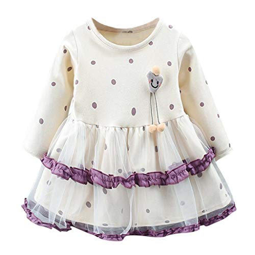 Livoral Halloween Kleinkind Baby Mädchen Baumwolle Kürbis Kostüm Kleider Outfits Kleidung Sets Kleider+ Stirnband | Halloween Toddler Infant Baby Girls Pumpkin Romper (12M-73)(Beige,100)
