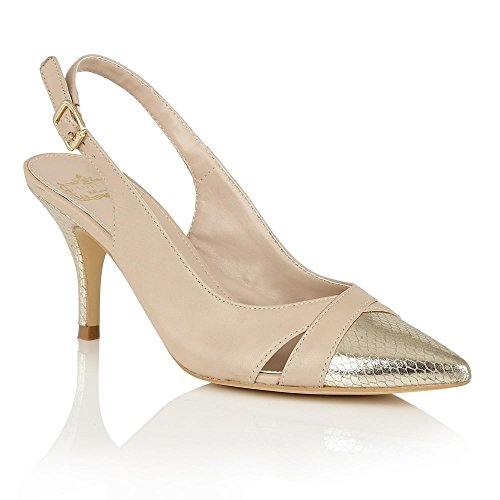 lotus-hallmark-carte-cour-chaussures-party-occasions-sangle-dos-ewelina-beige-or-metallique-beige-go