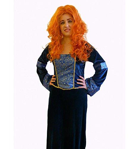 Verkleidung inspiriert Merida 'Legende der Highlands' (Erwachsen) - (Kostüm Merida Erwachsene)