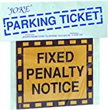 Joke Parking Ticket costume Fancy Dress