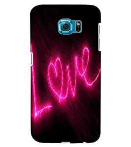 ColourCraft Love Quote Design Back Case Cover for SAMSUNG GALAXY S6 EDGE G925