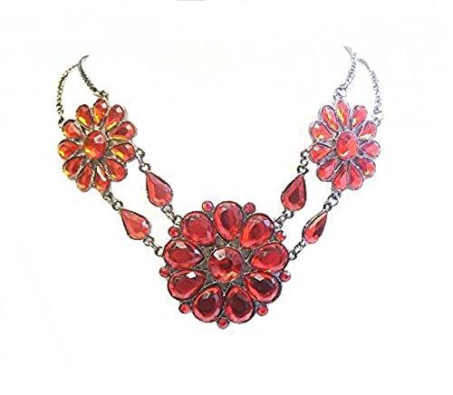 cy Kleid Party Henne Fashion Halskette Anhänger Geburtstag Geschenk Schmuck (Rotes Burlesque Kleid)