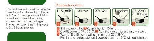 Joghurtferment für Bio-Joghurt – eine Packung mit 10 Beuteln tiefgekühlter trockener Kulturen - 5