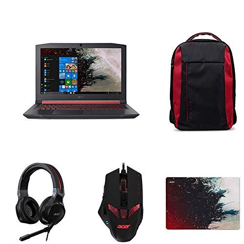 Acer Nitro 5 AN515-52-71X7 Notebook con Processore Intel Core i7-8750H + Zaino + Mouse + Headset + Mousepad