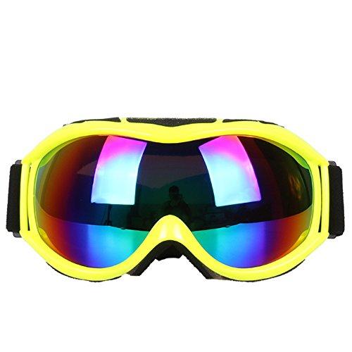 LYLhmj Skibrille Ski-Schutzbrillen Snowboard Brille Outdoor-Sport Snowboard-Schutzbrillen Anti-Nebel UV-Schutz winddicht Single-Objektiv Snowboardbrille für Motorrad Fahrrad Skifahren Skaten (Gelb)