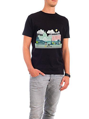 """Design T-Shirt Männer Continental Cotton """"Rome Skyline"""" - stylisches Shirt Städte / Rom Reise Reise / Länder von GREENGREENDREAMS Schwarz"""