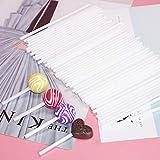Lolly Sticks, 100 Stück, 10 cm, für selbstgemachte Lollipops, weiß, Kunststoff, für Zuhause,...