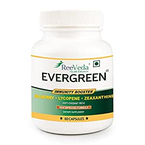 ReeVeda Evergreen Immunity Booster Nutraceutical Formulation - 60 Capsules