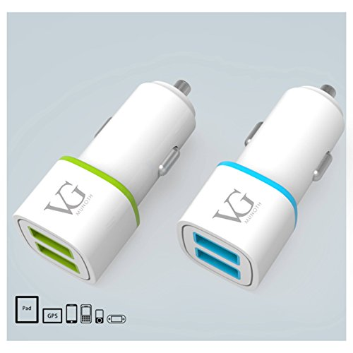 2.4a car charger by vg munoth [white blue colour] 2.4A car charger by VG MUNOTH [White Blue colour] 41M 2BXev2PKL