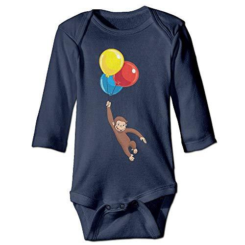00% Cotton Long Sleeve Onesies Toddler Curious George Rompers Playsuit Onesies ()