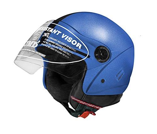 JMD Helmets Grand Open Face Helmet,Medium(Blue)
