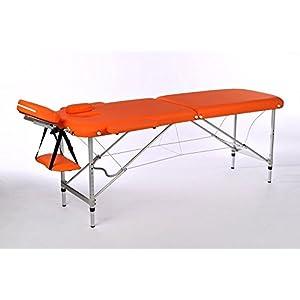 Massageliege / Massagebank ALU, nur 10kg, mit viel Zubehör, Topqualität, ORANGE