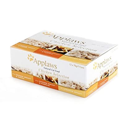 Applaws Cat Food Tin Chicken Selection Pack 12 x 70g (Bulk deal of 4) 3360g 1