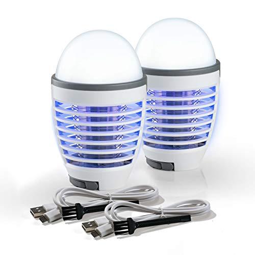 Genius Moskito Killer | 6 Teile | Insektenvernichter | Mückenfalle | Moskitoschutz | Lampe | UV-Licht | elektrische Fliegenfalle | Indoor | Outdoor | Insektenschutz | ohne Chemie | praktischer Griff