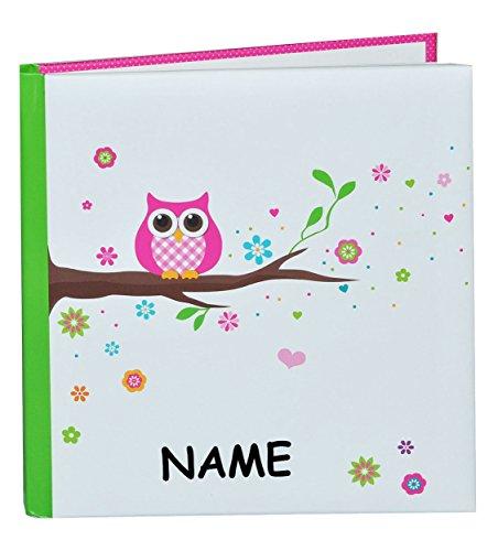 Freundebuch-Poesiealbum-bunte-Eulen-BLANKO-fr-Mdchen-Jungen-mit-Name-dick-gebunden-fr-Schulfreunde-Poesie-Hardcover-Meine-Freunde-Buch-Kinder-Schule-kleines-Fotobuch-zum-selbst-gestalten