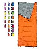 Favson Sac de Couchage Idéal pour Enfants, garçons, Filles, Adolescents et Adultes léger et Compact Sacs de Sommeil pour la randonnée, randonnée et Camping