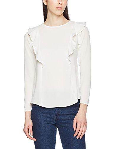 New Look Damen Langarmshirt Phoebe Frill, Off-White (Off White), Gr. 36 (8 UK) -