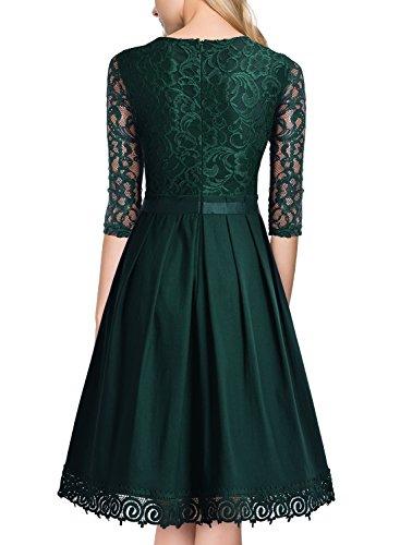 MIUSOL Donna Pizzo Vestiti Vintage 1950's Coctel Vestito Verde