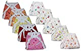 #7: Itsy Bitsy New Born Skin Friendly Hosiery Cotton Nappies/Diaper/Langot Pack of 6 (0-6 Months)(Multicolour Mix Prints)