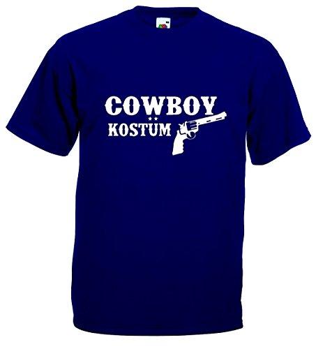 n T-Shirt Cowboy Kostüm Funshirt|marineblau-XXXL (Shirt Cowboy Kostüm)
