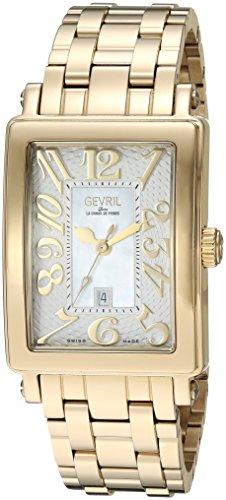 Gevril de la mujer 9444yb Avenue Ladies Midsize ipyg caso blanco Dial ipyg pulsera banda reloj.