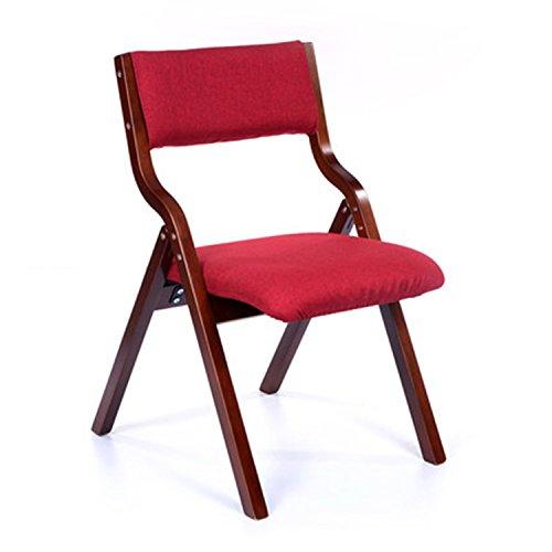 Chaise en bois Accueil Chaise de salle à manger minimaliste moderne Chaise de bureau Chaise arrière Chaise pliante brun Chaise en bois (Couleur : Rouge)