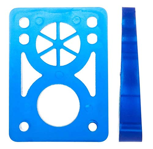 dstreet Risers Soft Wedge Sitzerhöhung Skateboard, Unisex-Erwachsene, Unisex - Erwachsene, Risers Soft Wedge, Blau (Clear Blue)