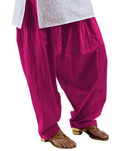 Kalpit Creations Women's Premium Cotton Readymade Salwar (dark pink)