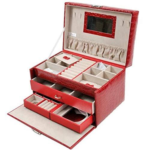 QUWENJIE Ringe Ohrring Schmuckschatulle Aufbewahrungskoffer Ornamente Schubladen Cosmetic Organizer Halsketten Uhren Display Box Kleine Flan-ring