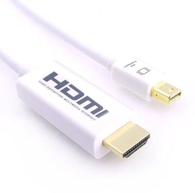 LCS - Cordon Mini DisplayPort Thunderbolt pour Apple (** avec Audio**) Compatible Thunderbolt vers HDMI 1.3b - Full HD 1080p - pour MacBook, MacBook Air,MacBook Pro, iMac, avec Mini DP par Link-Cable-Store
