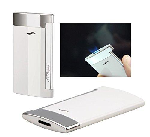 Lifestyle-Ambiente S.T. Dupont Feuerzeug Slim 7 Weiss Flat_Flame inkl Tastingbogen