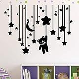 stickers muraux ecriture anglais stickers muraux chambre bebe etoile Sticker mural comptine accrochant sticker mural étoiles, lune et nounours pour chambre d'enfant