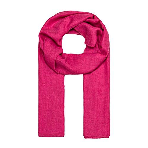 ManuMar Schal einfarbig | Hals-Tuch in Uni-Farben | einfarbig Pink als perfektes Sommer-Accessoire | klassischer Damen-Schal - Das ideale Geschenk für Frauen
