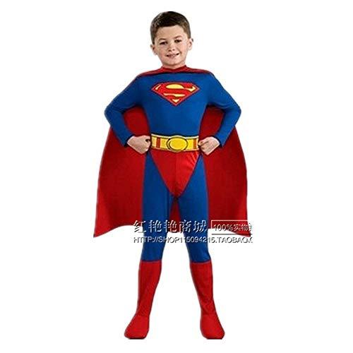 Unbekannt Superman Kinder männliche Performance Kleidung Eltern-Kind-Familie Halloween COS Kleidung Campus Performance Drama - Familie Superman Kostüm
