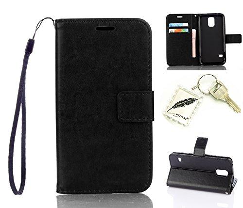Preisvergleich Produktbild Silikonsoftshell PU Hülle für Samsung Galaxy S5 (5,1 Zoll) Tasche Schutz Hülle Case Cover Etui Strass Schutz schutzhülle Bumper Schale Silicone case+Exquisite key chain X1#KA (4)