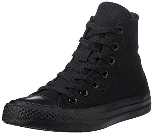 Converse Unisex-Erwachsene Ctas-Hi-Black High-Top, Schwarz (M9160 Schwarz/weiß),44 EU (Converse All Star Hi High Top)