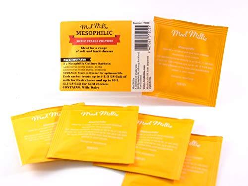 Mad Millie - Mésophile culture pour Fromage - 5 Sachet - 50L de Lait | pour Feta, Quark, Chevre Frais, Gouda, Cheddar