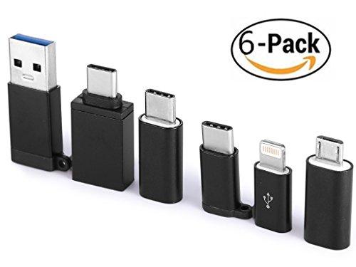 apter [6], cablecreation USB Typ C (männlich) auf USB A (weiblich), unterstützt OTG-Funktion, USB 3.1Für Apple MacBook/Pro, Chromebook Pixel, Nexus 5x/6P und Samsung Note 8S8S8+, mehr (schwarz) (Lightning Adapter Auf Usb)