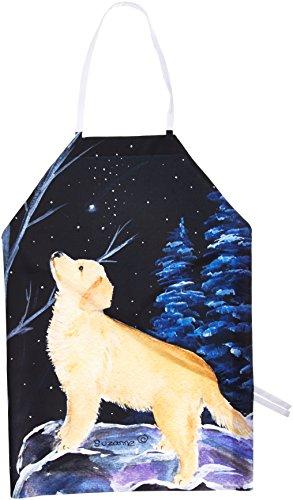 Caroline 's Treasures ss8392apron Starry Night Golden Retriever Schürze, groß, multicolor (Retriever-schürze)