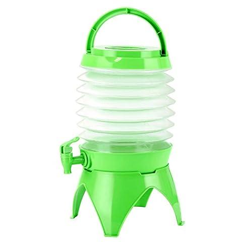 WINOMO Faltbarer Wasserkanister Wasserspender mit Hahn Tragbar für Outdoor Camping Reisen 5L